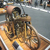 Motegi,Tochigi,Japan<br /> <br /> A wood and bronze motorcycle at the Honda auto museum at Motegi Twin Ring Racetrack.