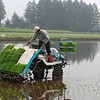 Rice farmer,Otawara,Tochigi,Japan<br /> <br /> Rice planting equipment in action,