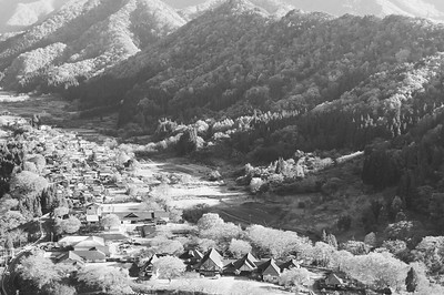 View of Yamadera town
