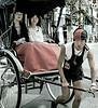 Passengers and Driver, Pedicab, II, Nakamise Street, Tokyo, Japan