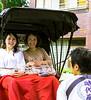 Passengers and Driver, Pedicab, Nakamise Street, Tokyo, Japan
