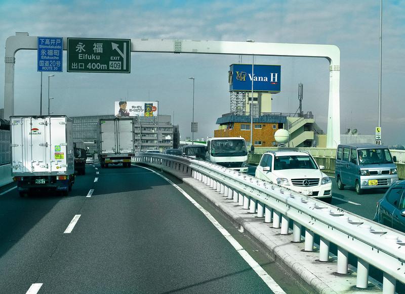 Morning Traffic, Elevated Freeway, Tokyo, Japan