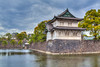 The Imperial Palace buildings reflected in the moat in Tokyo, Japan.