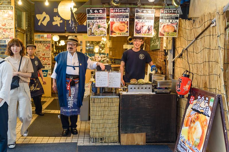 Seafood Restaurant at Tsukiji Market