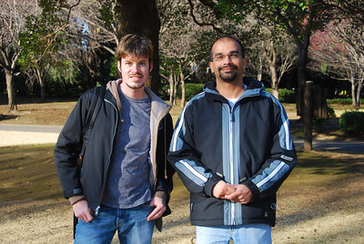 Brian and Amol in Iidabashi