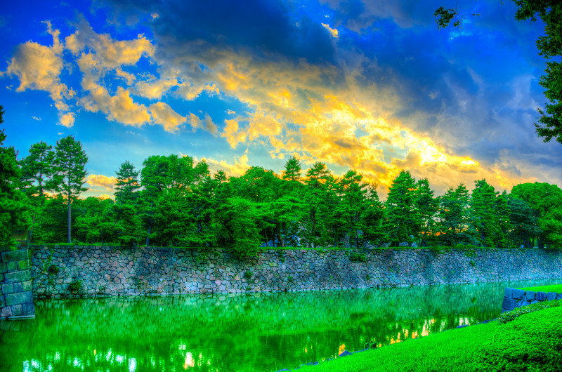Dramatic Sky over the Imperial Palace - © 2012 Brian Neal