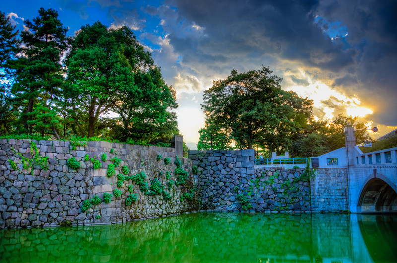 Over the Moat - © 2012 Brian Neal