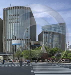 Ginza Tokyo City Blue Sky Down Town Main Forest Art Printing Photography Prints For Sale Pass - 024111 - 19-05-2016 - 5622x5893 Pixel