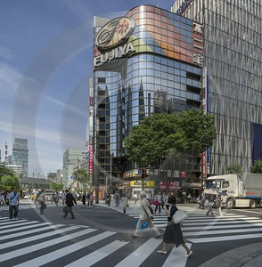 Ginza Tokyo City Blue Sky Down Town Main Fine Arts Photography Images Modern Wall Art - 024112 - 19-05-2016 - 7631x7787 Pixel