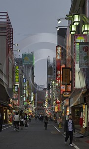 Shinjuku By Night Down Town Tokyo Japan Image Stock Stock Image Fog Fine Art Landscape Photography - 016163 - 22-10-2008 - 3927x6561 Pixel