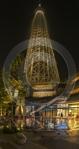 Skytree Tokyo City Night Light Show Sky Tower Nature Cloud River Fine Art Photographers View Point - 024067 - 23-05-2016 - 6041x11370 Pixel