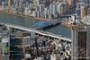 Blue Bridge over the Sumida River as viewed from the Tokyo Skytree Tower.