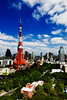 Tokyo tower, Sept 2009 from 31st floor, Prince Park Tower, Tokyo.