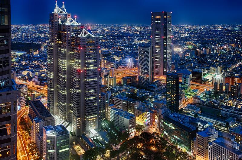 Tokyo at early night
