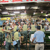 Morning veggie auction at the Tsukiji fish market. (I didn't get up early enough for the fish auction.)