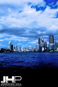 """Tokyo Skyline From Sumida"", Tokyo, Japan, 2010 Print JAP16-1321V3"