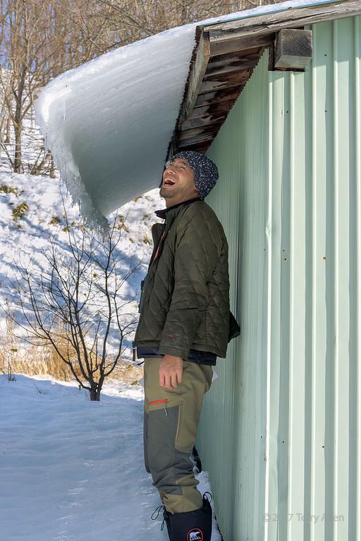 Ice roof, Eastern Hokkaido, Japan