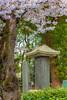A Japanese memorial in Ueno Onshi Park, Taito, Tokyo, Japan, Asia.