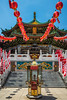 Entrance gate to Mazu Miao Temple in Chinatown, Yokohama, Japan, Asia.