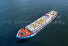 A fuel barge at the port city of Yokohama, Japan, Asia.