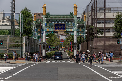 One of the entrances to the China town in Yokohama.