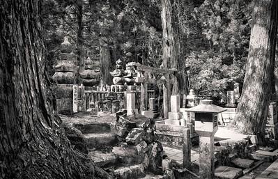 Okunoin Cemetery on a Sunny Day.