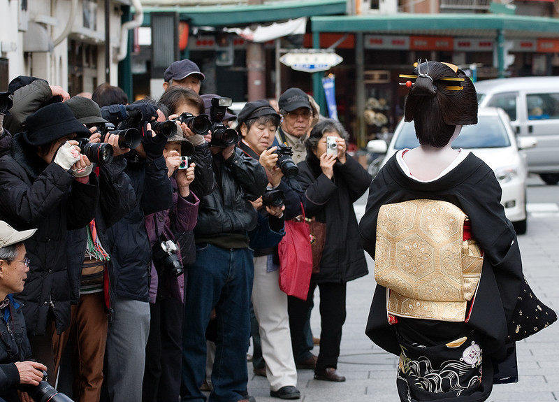 Tokyo tourists in Kyoto