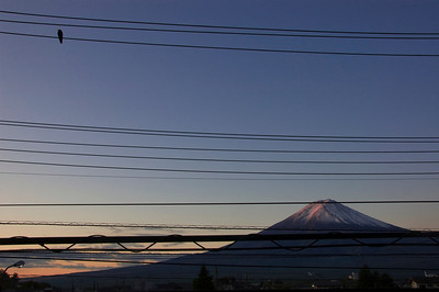 Mount Fuji at dawn.