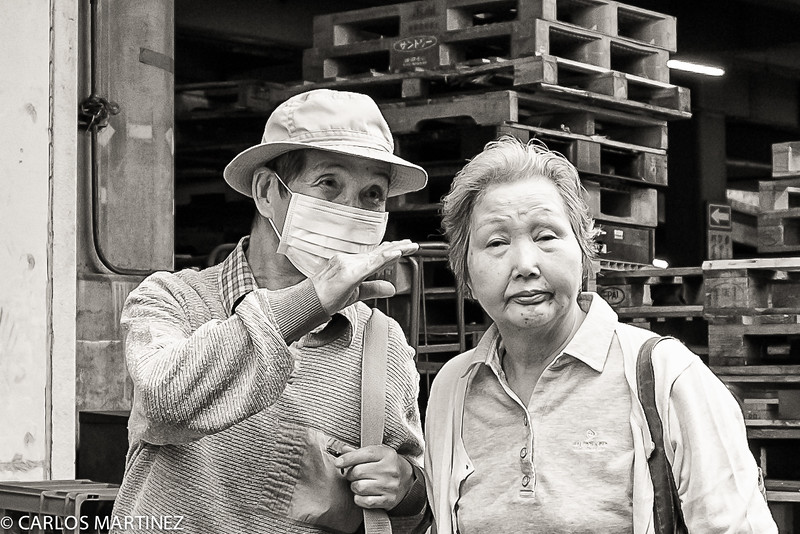 In Japan, if you are sick, you wear a mask, to avoid spreading out the virus to other people