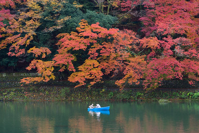Arashiyama Boating Couple