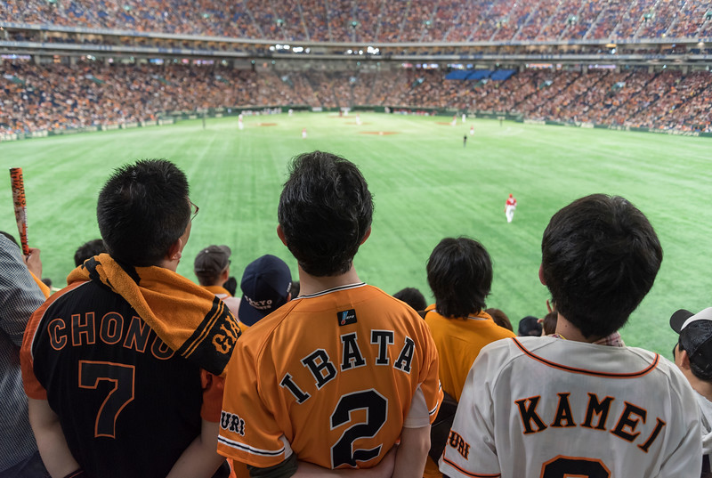 Baseball Fans in Tokyo Dome