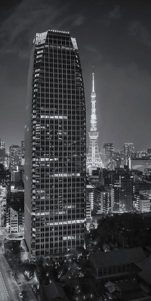 Atago Green Hills Mori Tower; Tokyo Tower; Seishoji Temple; Tokyo; Japan