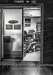 Shoe Shine Train Kyoto Station  B&W Copyright 2017 Steve Leimberg UnSeenImages Com _DSF1602
