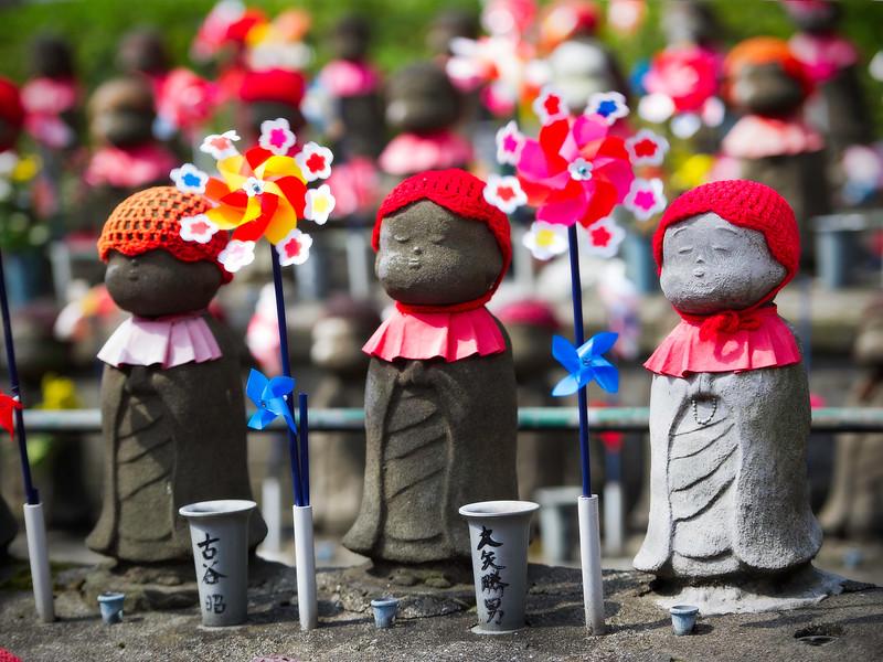 Jizō Statues; Unborn Children Garden; Zōjō-ji temple; Tokyo; Japan