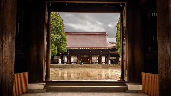 Meiji Shrine Courtyard