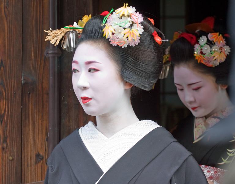 Maiko of Gion.  Kyoto
