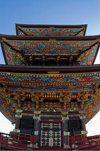 Colorful buddhist pagoda in Japan. Narita -san Temple. Tokyo.