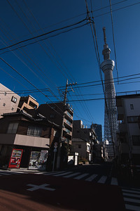 View From a Street in Tokyo of the Skytree