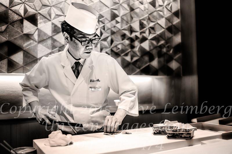 Chef M  Washizu at Ritz Sushi Bar  Copyright 2017 Steve Leimberg UnSeenImages Com L1220043
