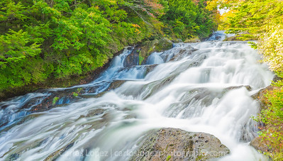 Ryuzu waterfall near the Marshlands in Nikko, Japan.