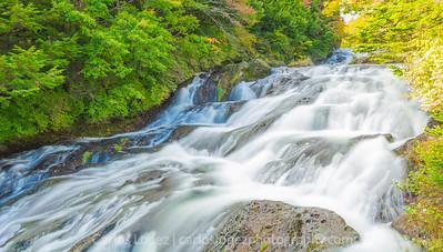 Ryuzu waterfall near the Marshlands in Nikko, Japan.