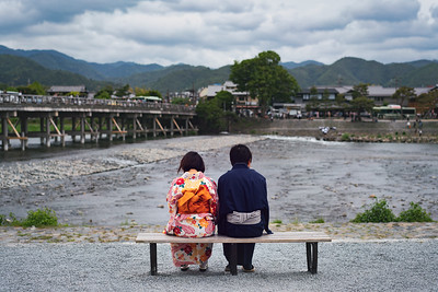 Couple outside Arashiyama