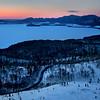 Dawn on Bihoro Pass in Winter