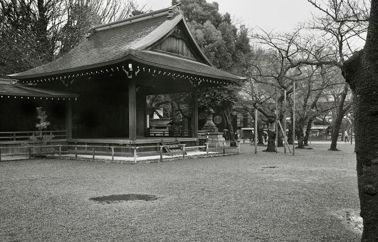 Yasukuni Jinja in Rain. Tokyo