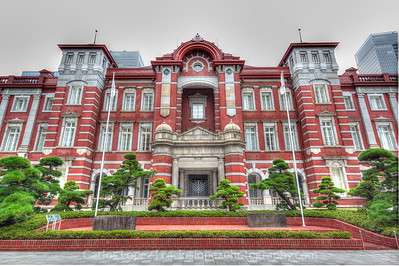 Old section of the Tokyo Station.