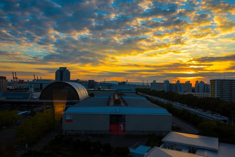 Sunrise in Osaka