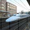 Shinkansen aka the Bullet Train travels at 200 mph through the Okayama station. Okayama is a major stations along the JR Tokaido/Sanyo Shinkansen.