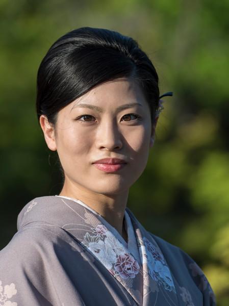 Japanese woman in traditional yukata