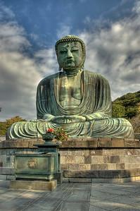 Big Buddha of Kamakura, Japan. Daibutsu. HDR.