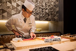 Chef M  Washizu at Ritz Sushi Bar - Kyoto - Copyright 2017 Steve Leimberg UnSeenImages Com L1220080
